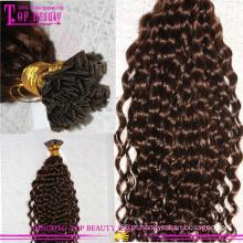 U dica ombre unha cabelo humano dica cabelo Pre-Bonded extensões de cabelo de ponta em u