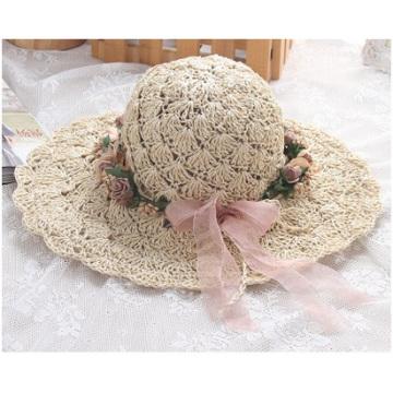 Summer New Wreath Hat, Pure Manual Sun Along Straw Hat
