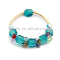 2014 único design pulseiras aquamarine brilhar cristal austríaco pulseiras