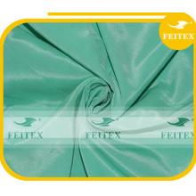 Tissu de plaid de polyester de polyester de soie teint par Nigéria africain pour la robe de femme