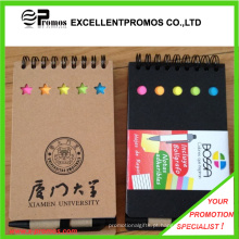 Notebook promocional personalizado reciclado barato com caneta (EP-B55512)