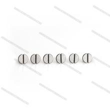 Mini vis à tête plate fendue en titane M3