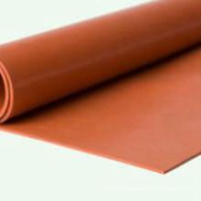 Rouleau de feuille de caoutchouc de silicone haute température rouge