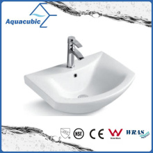 Semi-Recessed Bathroom Ceramic Cabinet Basin Hand Washing Sink (ACB8160)