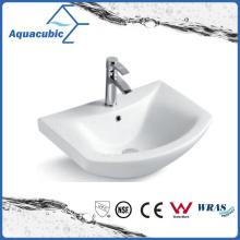 Lavabo semi-empotrado del lavabo de la mano del lavabo del gabinete de cerámica (ACB8160)