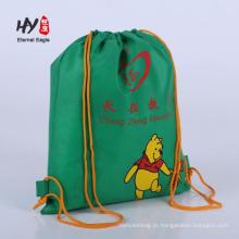 Venda quente não tecido mochila com bolsos com zíper