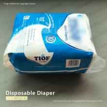 Pañal desechable para adultos y bebés Buena absorción de agua