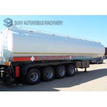 Pétrolier Acier au carbone 3 essieux 4 essieux 58 M3 58000 litres Semi-remorque à réservoir de carburant de 58 tonnes