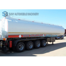 Oil Tanker Carbon Steel 3 Axle 4 Axles 58 M3 58000 Liters 58 Ton Fuel Tank Semi Trailer
