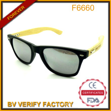 2015 New Trendy Fashionable Bamboo Wooden Temple Custom Colorful Sunglass China Wholesale