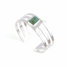 Bracelets en pierre gemme plaqué or d'une belle turquoise en Arizona de 18kA