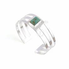 Красивая Бирюза Аризона 18k позолоченный драгоценный камень браслеты