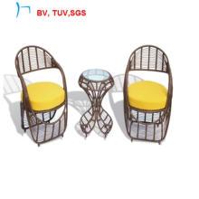 2016 ротанга кофе стол стул с подушкой