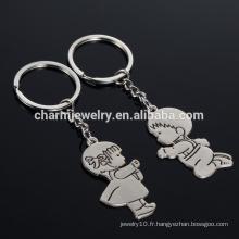 Nouveaux cadeaux de Noël Alliage de zinc Cute Girl Girl Key Chains Creative Gift Lover Keychain nouvelle arrivée Funny couple keychain YSK017
