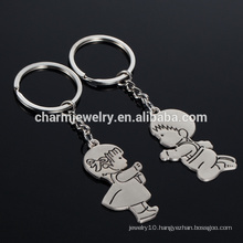New Christmas Gifts Zinc Alloy Cute Boy Girl Key Chains Creative Gift Lover Keychain new arrival funny couple keychain YSK017