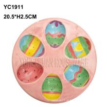 Cerâmica, colorido, ovo, prato