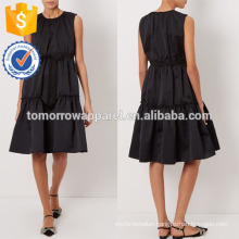 New Fashion Black Sleeveless Tiered Dress Manufacture Wholesale Fashion Women Apparel (TA5271D)