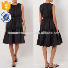 Nova moda preto mangas em camadas vestido manufatura atacado moda feminina vestuário (t5271d)