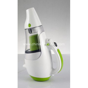 white-green lightness handheld vacuum cleaner