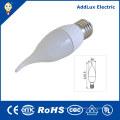Luz de la vela blanca cálida de 220V Dimmable SMD 3W E27 LED