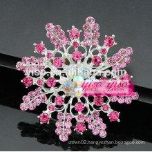 snowflake flower crystal starburst flower brooch