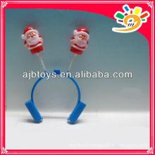 Christmas Santa decor hairclips, ornamento de Navidad de plástico Santa hairclip, regalo de Navidad