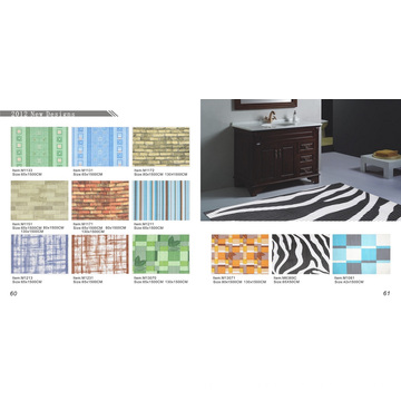 PVC anti deslizamento impresso Mat rolo