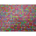 Popular hot fix mix color resin rhinestone blanket
