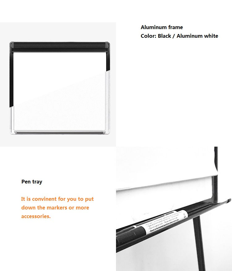 whiteboard with pen tray alumnium frame