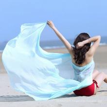 Vente chaude impression écharpe en mousseline de soie paréo en vrac pas cher personnalisé plage serviettes Inde