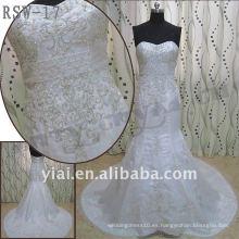 RSW-17 2011 venta caliente nuevo diseño damas de moda elegante personalizado bordado hermoso vestido de novia con cuentas