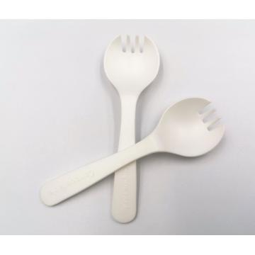 Spork jetable compostable 100% biodégradable de PLA