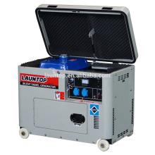 5,5 кВт 4-тактный, с воздушным охлаждением, одноцилиндровый бесшумный дизельный генератор с навесом