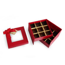 Double layer Gift Chocolate Packaging With Window PVC