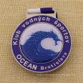 Custom School Award Metal Medal with Epoxy Cover
