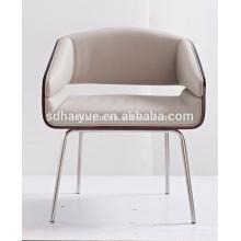 Sillas de lujo de la sala de estar de los muebles suaves de la sala de estar blanca de la PU de la venta caliente