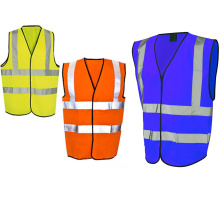 safety reflective vest with 4 refletive stripes