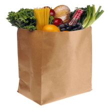 Flat Grocery Use Kraft Paper Shopping Bag for Vegetables and Fruits