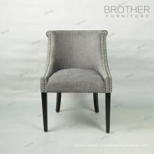 Wholesale style moderne à manger chaise français script tissu chaise