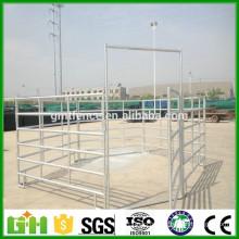 Panneaux à cheval galvanisé trempé à chaud et à usage intensif / grille de fer métallique ferme ferme porte pour bétail ou cheval