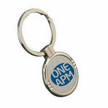Round Color Logo Zinc Alloy Key Chain for Promotion (F1132)