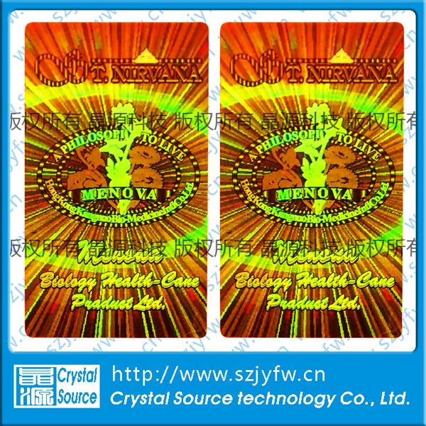 Label Stiker Holografik Anti-Palsu