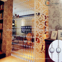 Ubicación de la sala de estar transparente cortinas de cuentas de la India