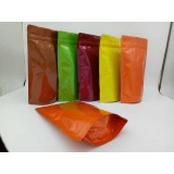 Coloured Matt Foil Bags glossy laminate mylar aluminized foil metallic pouch packaging doypack bag