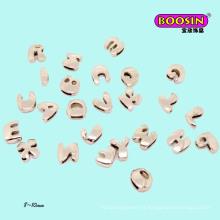 Nouveaux charmes coulissants en métal avec alphabet Wrap # 1649