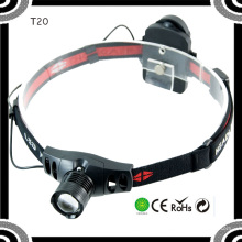 Poppas T20 Популярная XPE R5 LED 3 * AAA сухая батарея светодиодные фары для активного отдыха.