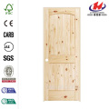JHK-002 Radiata Pine Kerala Designs Arched Top Glass Inserts Wooden Frames Interior Door