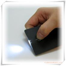 Mini lanterna ultra-fina do cartão do diodo emissor de luz do destaque para o presente da promoção