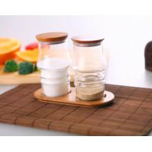 Estilo occidental de diseño creativo Borosilicaate Glass Spice Jar