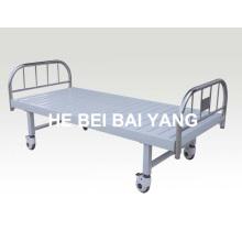 Cama de hospital plana móvil 126